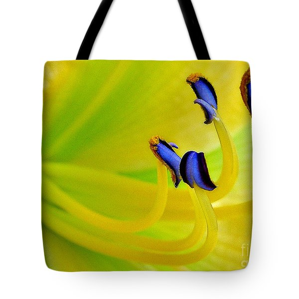 Yellow Lily Tote Bag by Judi Bagwell