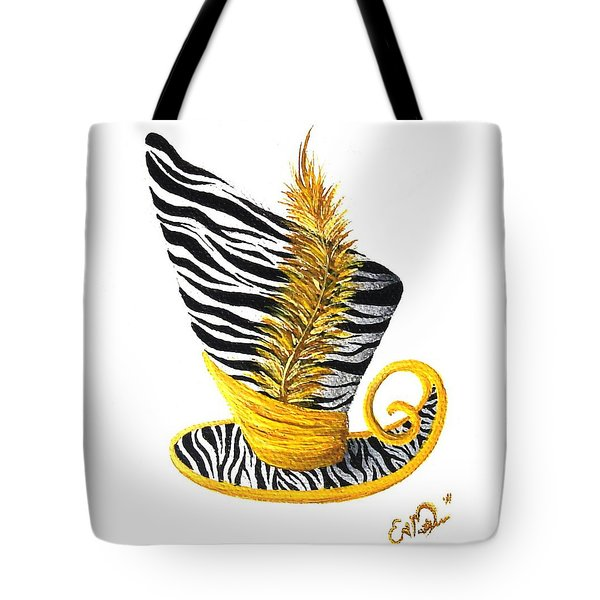 Yellow Magic Hat Tote Bag by Oddball Art Co by Lizzy Love