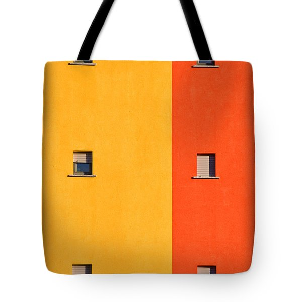 Yellow Orange Blue With Windows Tote Bag