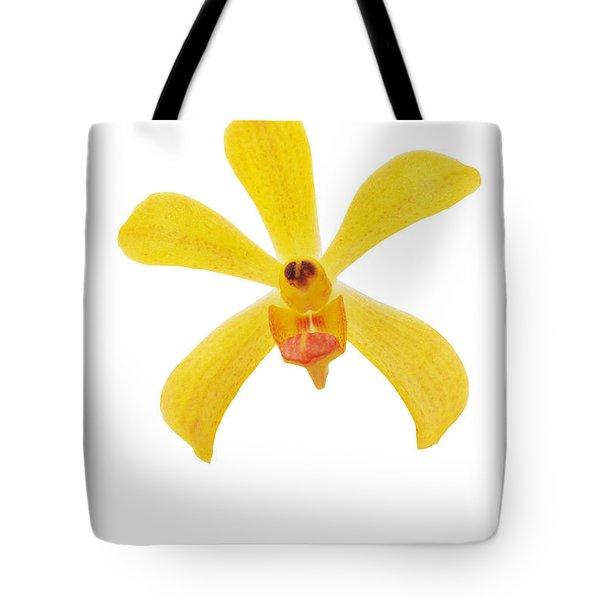Yellow Orchid Tote Bag by Atiketta Sangasaeng