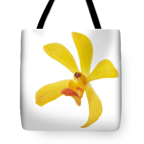 Yellow Orchid Head Tote Bag by Atiketta Sangasaeng