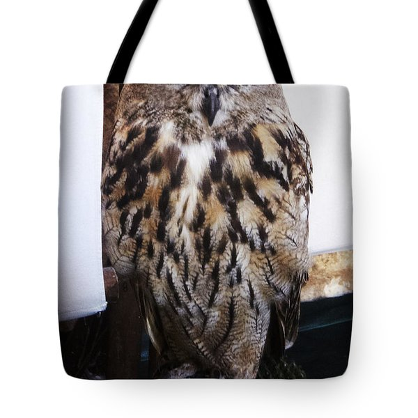 Yellow Owl Eyes Tote Bag