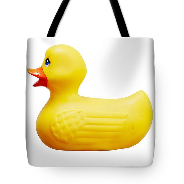 Yellow Plastic Duck Tote Bag by Michal Boubin