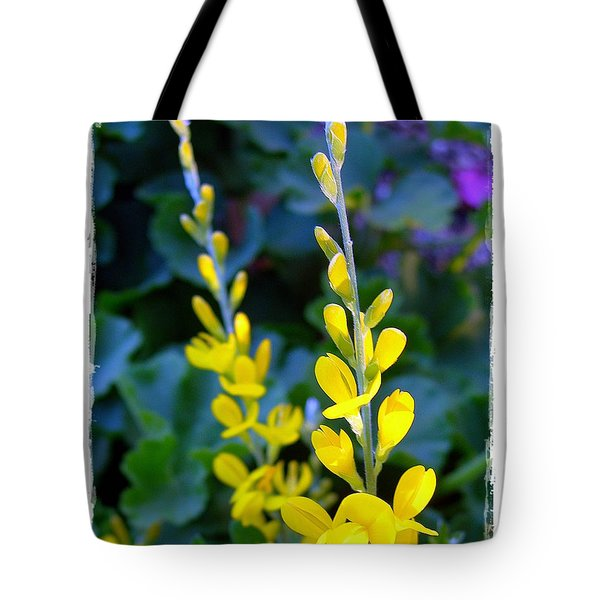 Yellow Plumes Tote Bag by Judi Bagwell