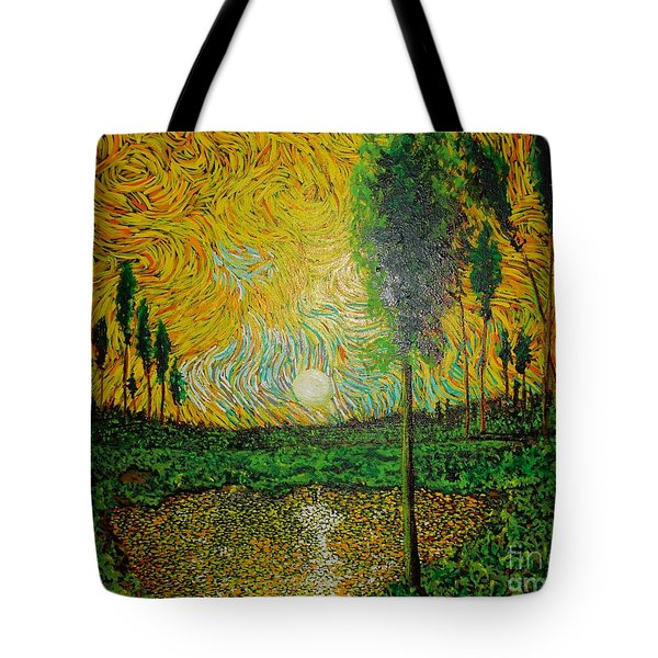 Yellow Pond Tote Bag
