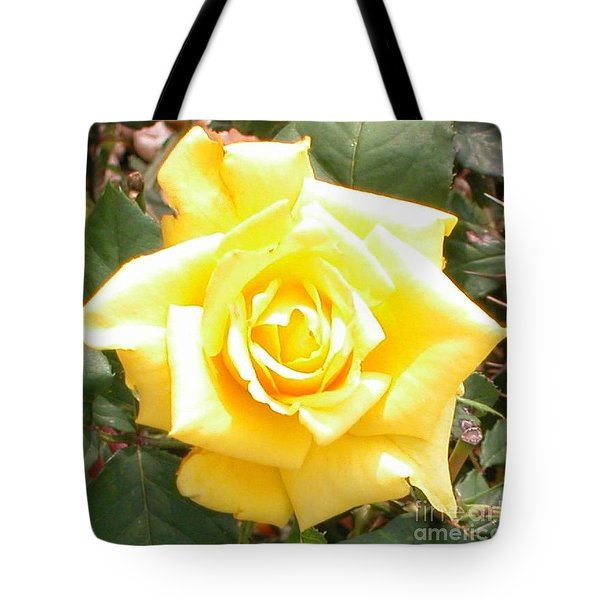 Yellow Rose At High Noon Tote Bag by Alys Caviness-Gober