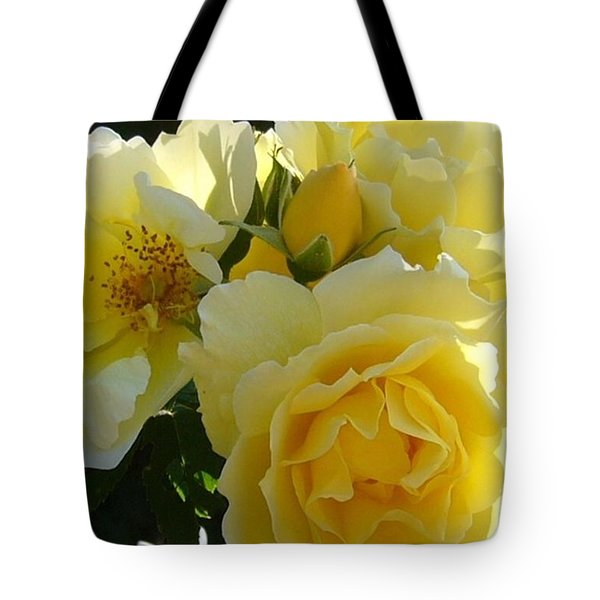 Tote Bag featuring the photograph Yellow Rose by Jim Sauchyn