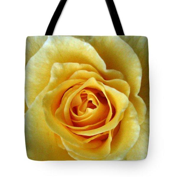 Yellow Rose Tote Bag by Peg Urban