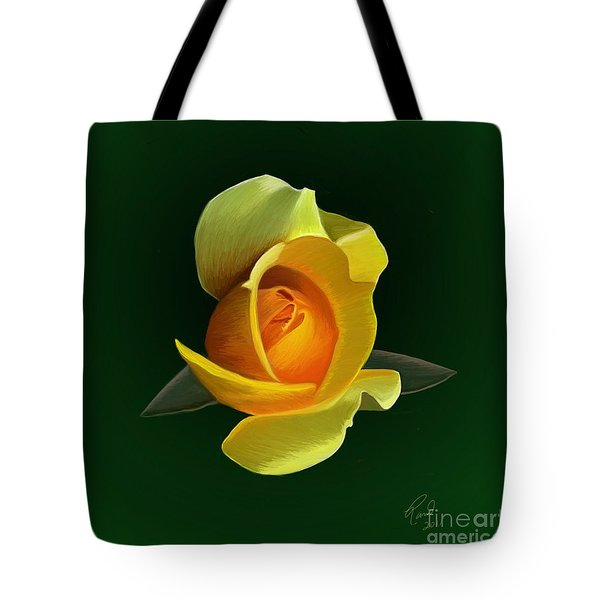 Yellow Rose Tote Bag by Rand Herron