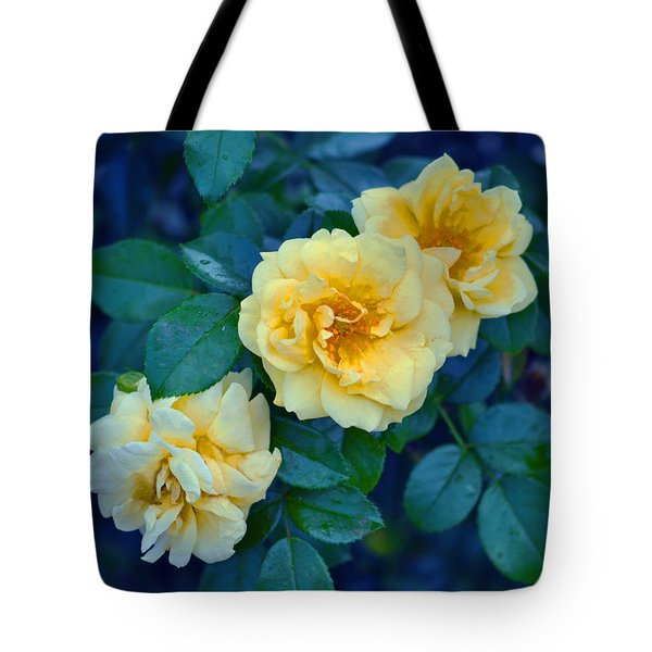 Tote Bag featuring the photograph Yellow Roses by Rodney Campbell