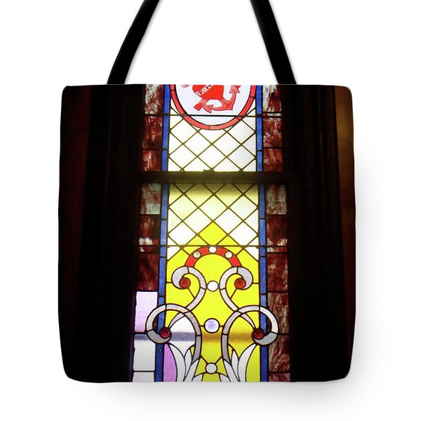 Yellow Stained Glass Window Tote Bag by Thomas Woolworth