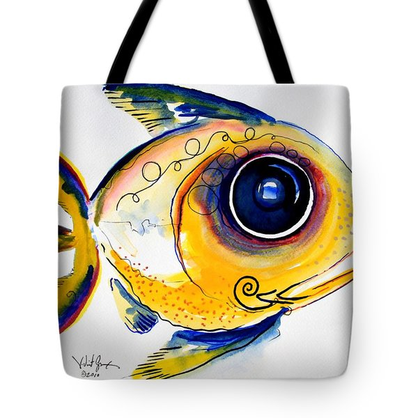 Yellow Study Fish Tote Bag by J Vincent Scarpace