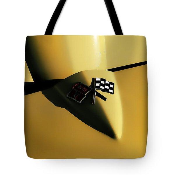 Yellow Vette Badge Tote Bag