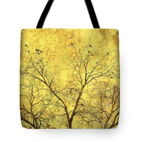 Yellow Wall Tote Bag by Skip Nall