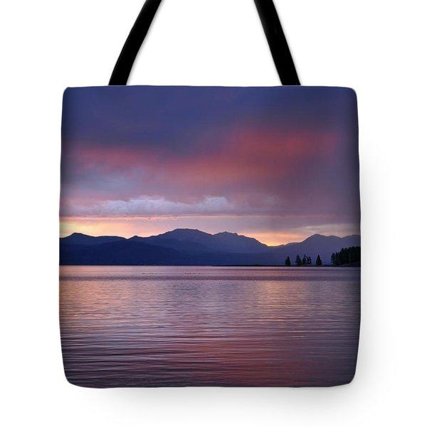 Yellowstone Lake Sunrise IIi Tote Bag