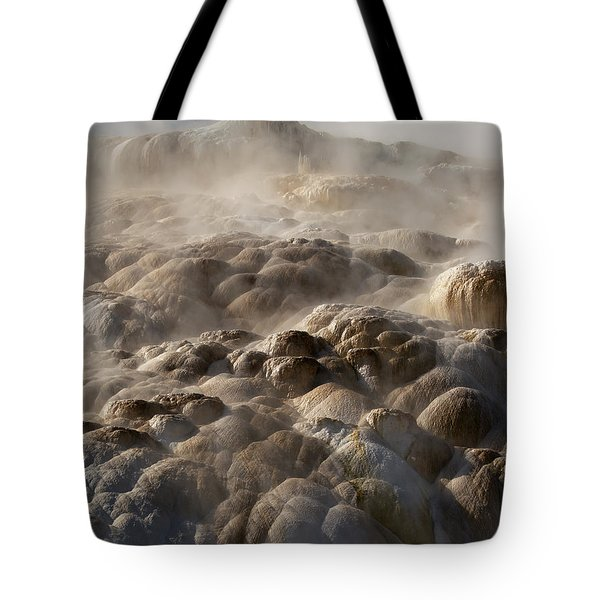 Tote Bag featuring the photograph Yellowstone Steam by J L Woody Wooden