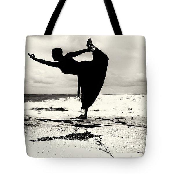Yoga Balance Tote Bag by Stelios Kleanthous