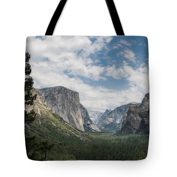 Yosemite Valley From Tunnel View At Yosemite Np Tote Bag