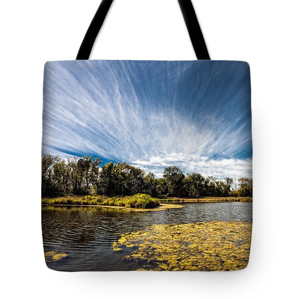 Tote Bag featuring the photograph You Cannot Be Cirrus by Tom Gort