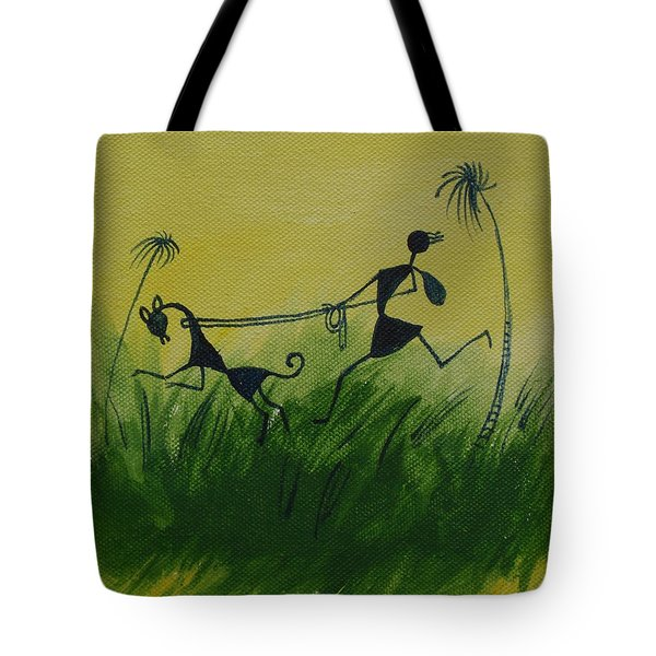 You En I In This Beautiful World Tote Bag by Chintaman Rudra