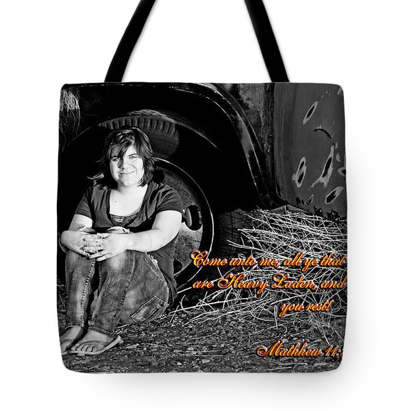 You Shall Find Rest Tote Bag