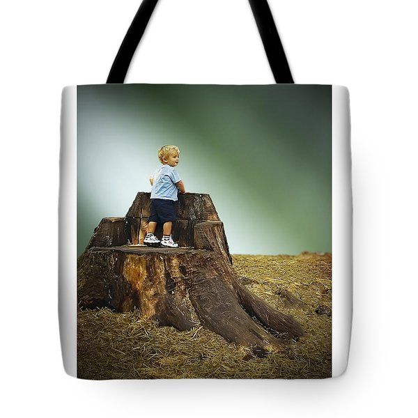 Young Boy Tote Bag by Brian Wallace