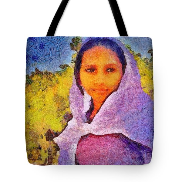 Young Moroccan Girl Tote Bag