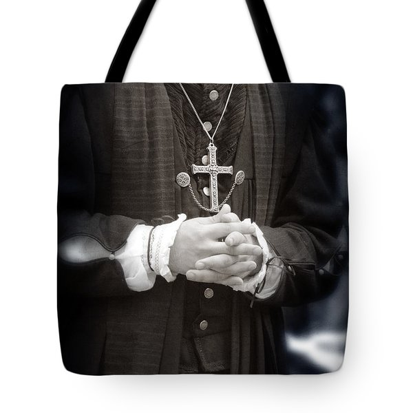 Young Renaissance Priest Tote Bag by Jill Battaglia