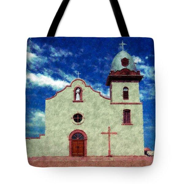 Ysleta Mission Texas Tote Bag by Kurt Van Wagner