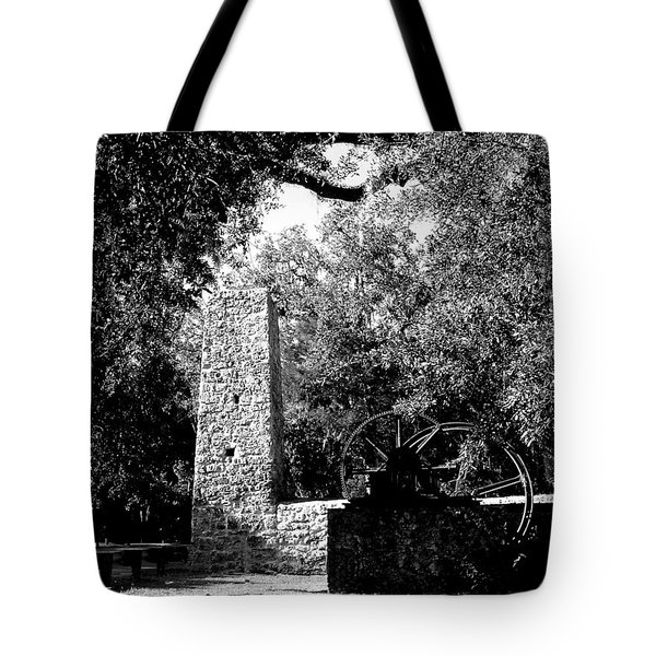 Yulee Sugarmill 2  Black And White Tote Bag by Judy Wanamaker