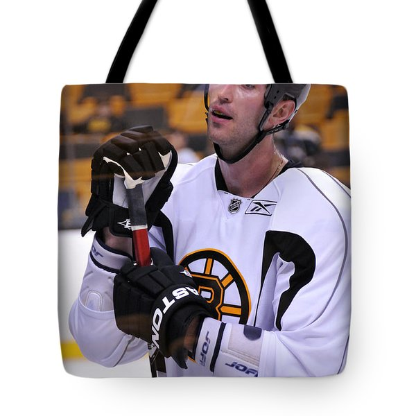 Zdeno Chara Takes A Break Tote Bag by Mike Martin