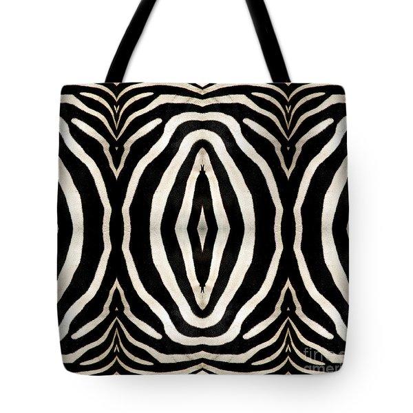 Zebra Hide Tote Bag by Rose Santuci-Sofranko
