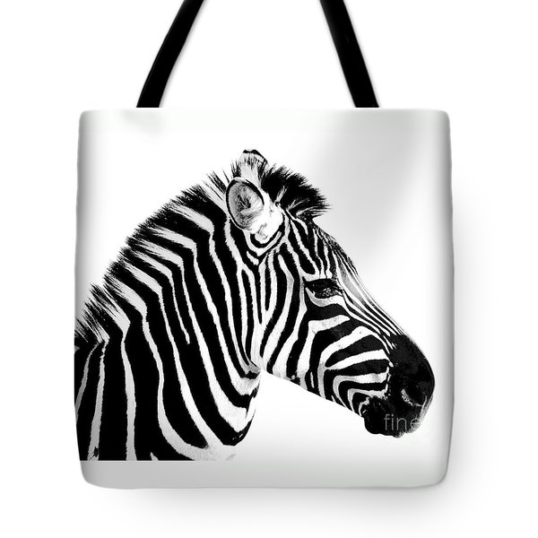 Zebra Tote Bag by Rebecca Margraf