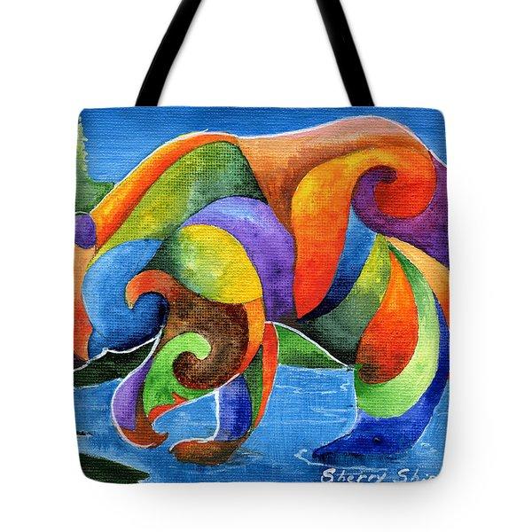 Zen Bear Tote Bag
