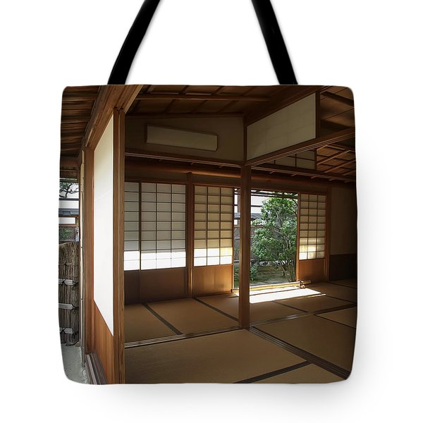 Zen Meditation Room Open To Garden - Kyoto Japan Tote Bag