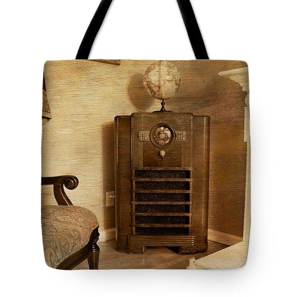 Zenith Consol Radio 1940's  Tote Bag by Paul Ward