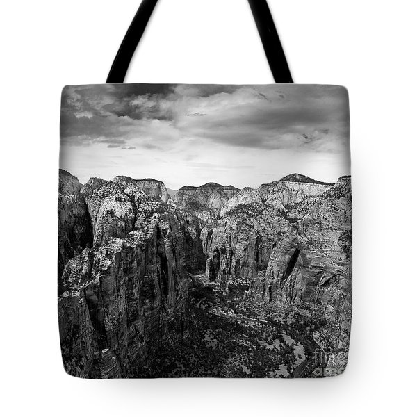 Zion National Park - View From Angels Landing Tote Bag
