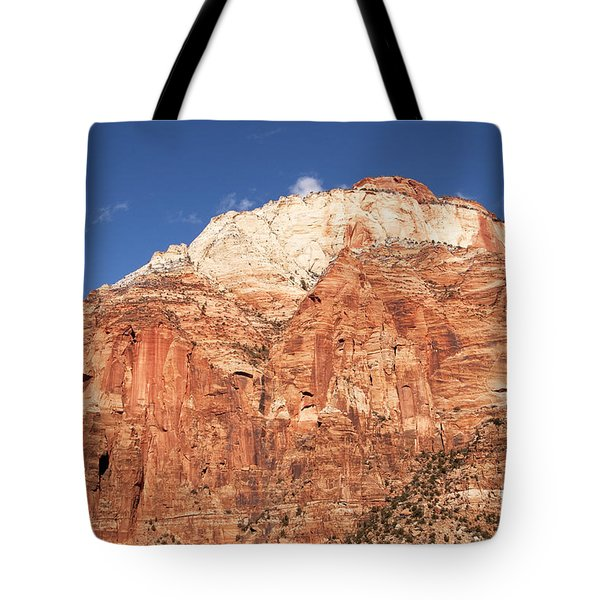 Tote Bag featuring the photograph Zion Red Rock by Bob and Nancy Kendrick