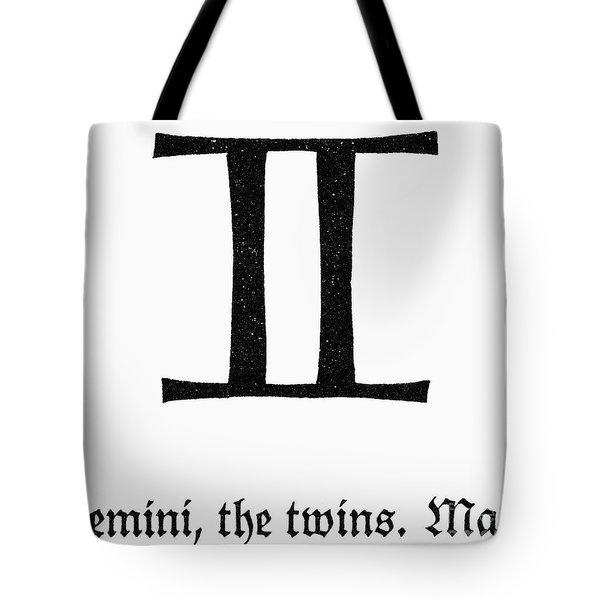 Zodiac: Gemini Tote Bag by Granger
