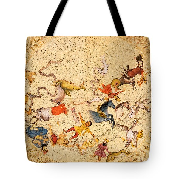 Zodiac Signs From Indian Manuscript Tote Bag by Science Source