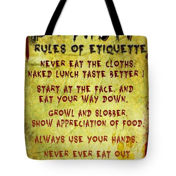 Zombie Etiquette Tote Bag