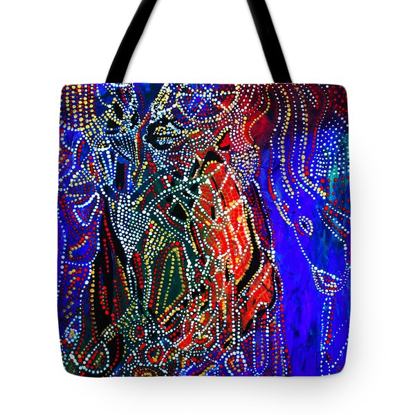 Tote Bag featuring the painting Zulu Bride by Gloria Ssali