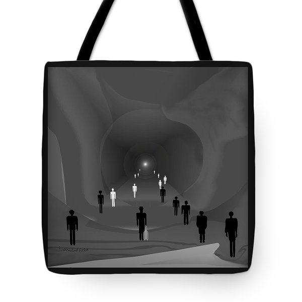 249 - The Light At The End Of The Tunnel   Tote Bag by Irmgard Schoendorf Welch