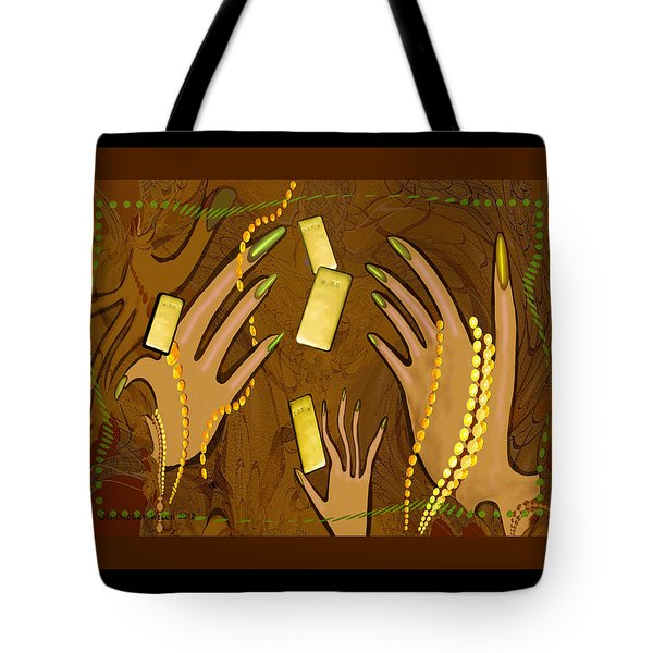 548 - Gold Fingers .... Tote Bag by Irmgard Schoendorf Welch
