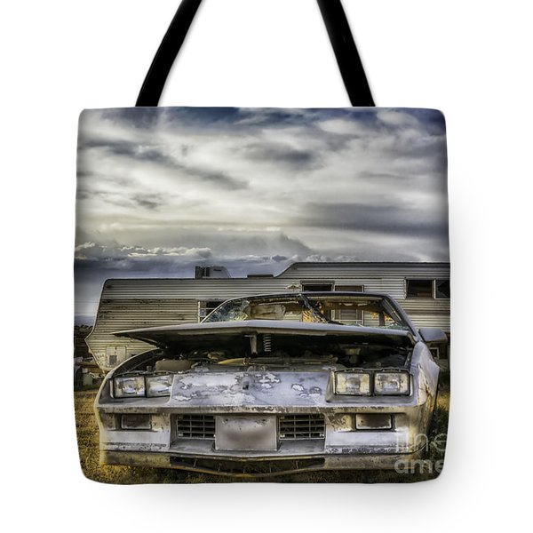 Tote Bag featuring the photograph  80's Chevrolet Camaro by Bitter Buffalo Photography