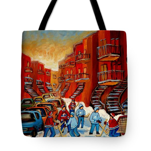 A Beautiful Day For The Game Tote Bag by Carole Spandau