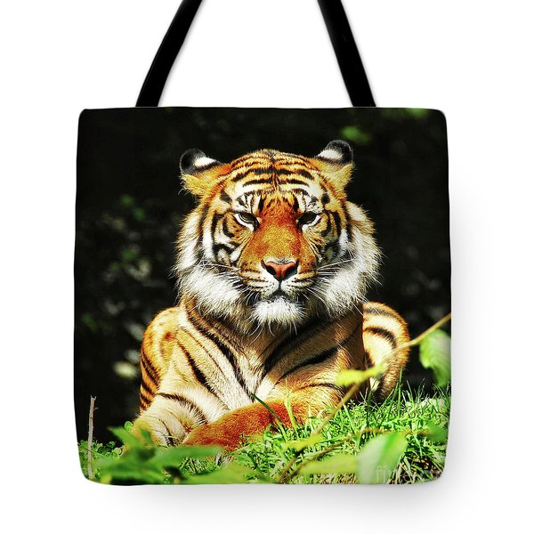 Tote Bag featuring the photograph  A Beauty Among The Beasts by Elaine Manley