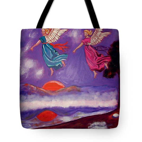 A Feather From The Breath Of God Tote Bag