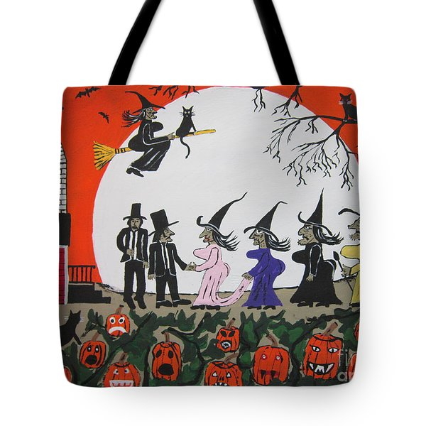 A Halloween Wedding Tote Bag by Jeffrey Koss
