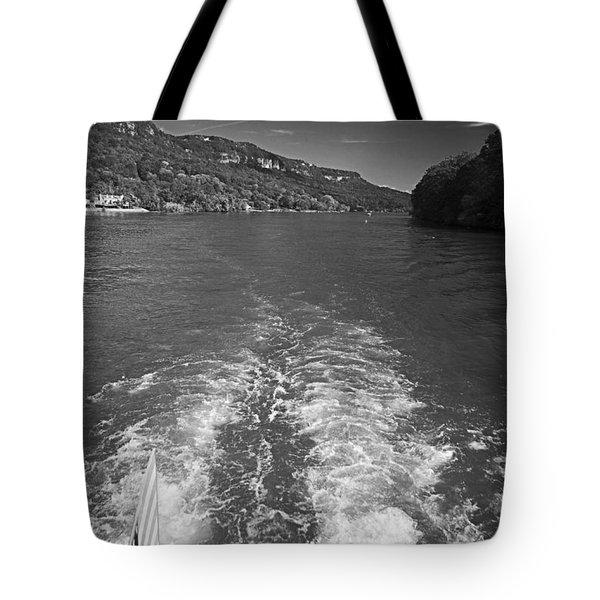 A Wake, River And Sky Tote Bag